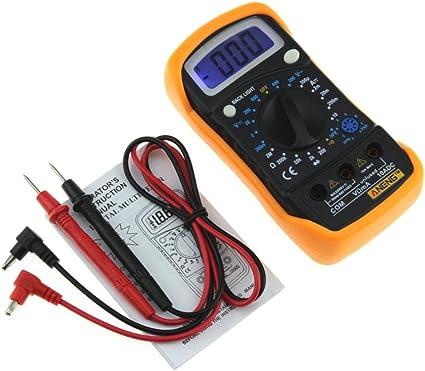 LtrottedJ amperímetro digital de voltímetro, multímetro de ...