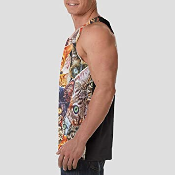 Msanlixian Mens Tank Top Spiral Tie Dye Mandala Trippy Sleeveless T-Shirt Graphic Tops Tees
