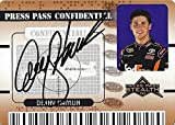 AUTOGRAPHED Denny Hamlin 2009 Press Pass Stealth CONFIDENTIAL (#11 FedEx Racing) Signed Collectible NASCAR Insert Trading Card with COA (#PC 2/25)