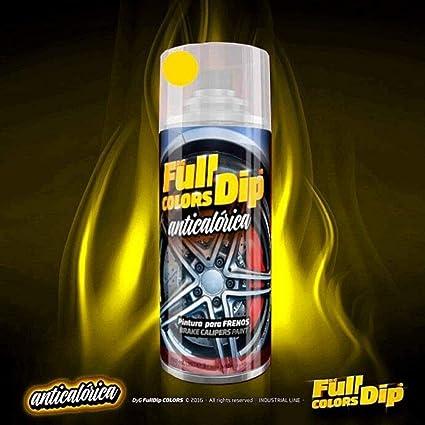 Autofullcar Spray Pintura Para Pinzas De Freno Anticalórica Acrílica Permanente Fullcolors By Full Dip Amarillo Amazon Es Coche Y Moto