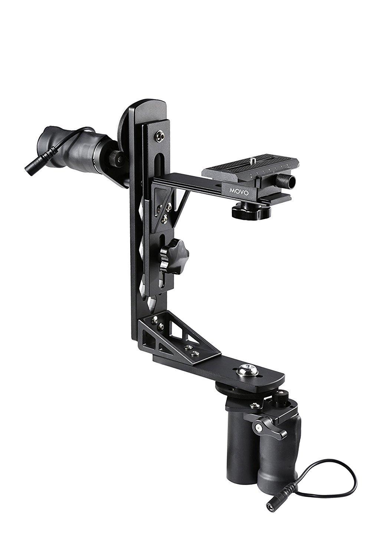 MOVO Cabezal Gimbal Panor/ámico//Basculante 360/° Motorizado de Aluminio para Tr/ípodes /& Brazos Soporta C/ámaras de hasta 5kg