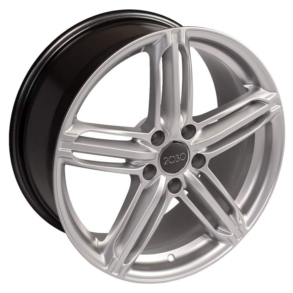 OE Wheels 18 Inch Fits Volkswagen CC Beetle Audi A3 A8 A4 A5 A6 TT 18x8 RS6 Style AU12 Hyper Silver Rim
