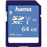 Hama Class 10 SDXC 64GB Speicherkarte (UHS-I, 45Mbps)