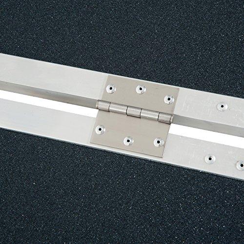 HOMCOM 2' Lightweight Aluminum Portable Skidproof PVC Carpeted Folding Wheelchair Ramp by HOMCOM (Image #7)