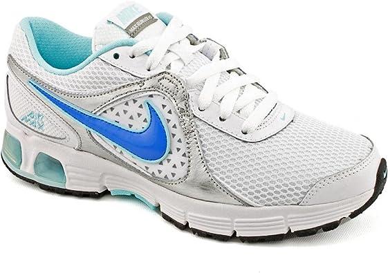 leopardo Fundir grupo  Amazon.com   Nike Women's Air Max Run Lite +2 Running Shoes (10,  White/Blue)   Shoes