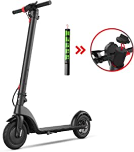 """BEEYEO Electric Scooter, X7 Updated Scooters for Adults with Three Speeds Up to 16 Miles 20MPH Portable Folding Commuting Electric Scooters 8.5"""" Solid Tires Double Braking System"""