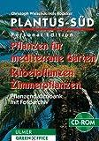PLANTUS-Süd, Personal Edition, 1 CD-ROM Pflanzen für mediterrane Gärten, Kübelpflanzen, Zimmerpflanzen. Für Windows 95/98 und höher, Windows NT. Pflanzendatenbank mit Fotoarchiv