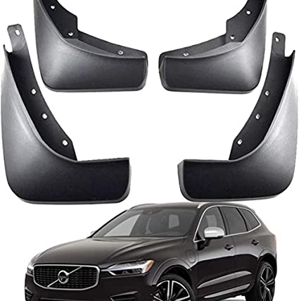 4Pcs Car Mud Flaps Front /& Rear Mudflaps Splash Guards for V-olvo XC60 2018 2019 Car Styling /& Body Fittings