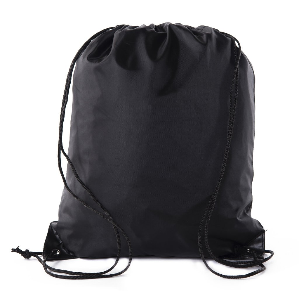 Mato & Hash Basic Drawstring Tote Cinch Sack Promotional Backpack Bag - 100PK Black CA2500 - 2