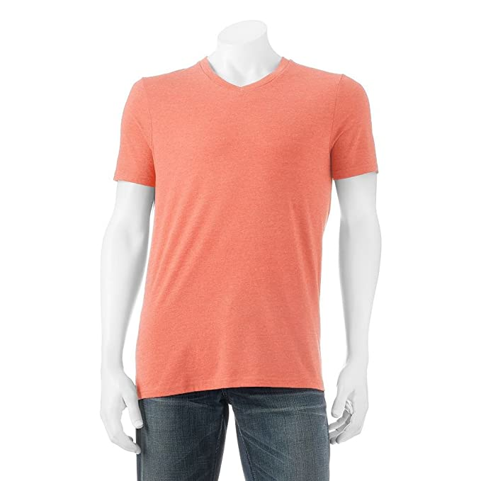 e3d4861ad9f Urban Pipeline V-Neck Fashion Tee Fusion Coral XX-Large at Amazon Men s  Clothing store