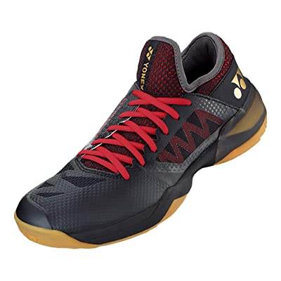 YONEX Power Cushion Comfort Z 2 Men Badminton Shoes-(Black/Red) M7.5 | Tennis & Racquet Sports