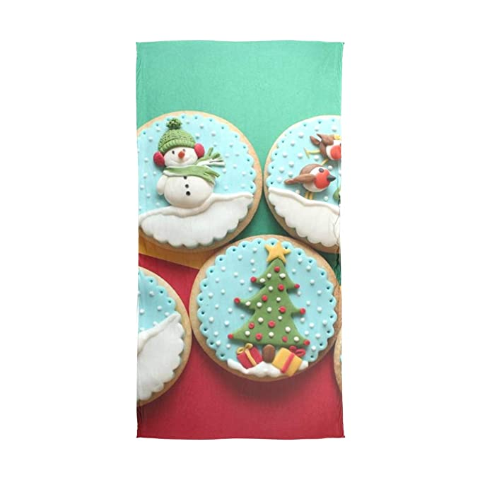 Amazon Com Scarf Decorated Christmas Cookies Womens Chiffon Scarves