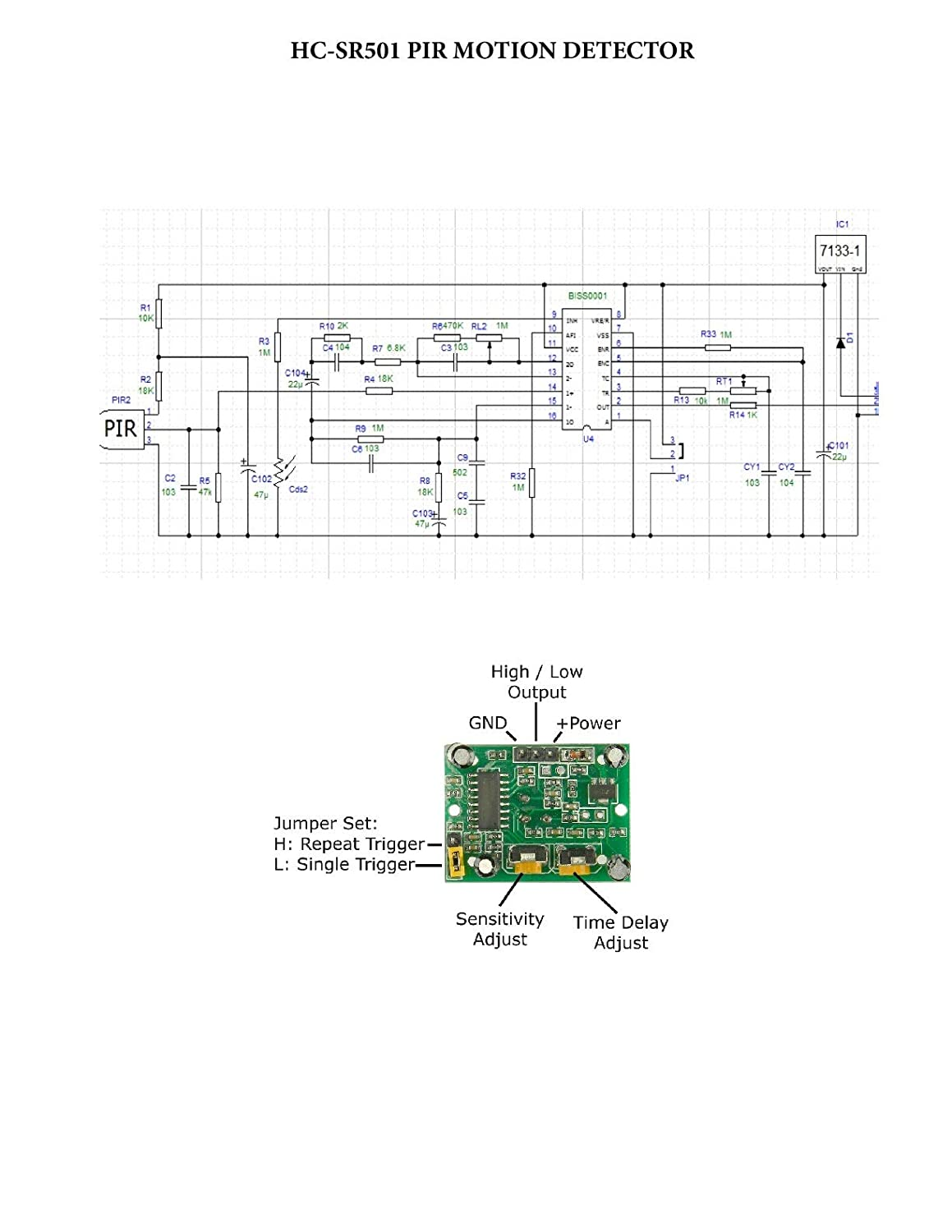 Sensor Circuit Diagram Further Pir Motion D Sun Hc Sr501 Pyroelectric Infrared Detector Module Industrial Scientific