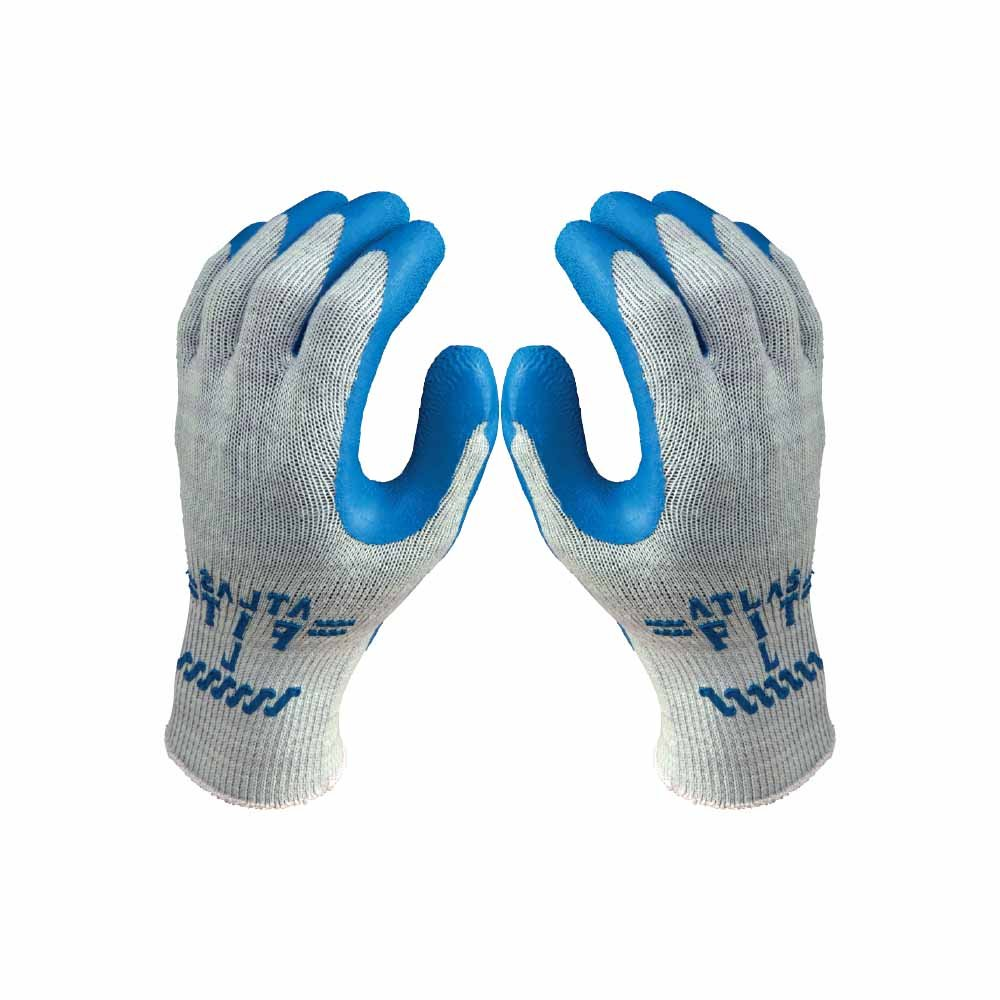 Atlas Fit 300 Blue Latex Palm-Dipped Blue Rubber Work Glove X-Large, 72-Pair by Atlas Showa (Image #4)