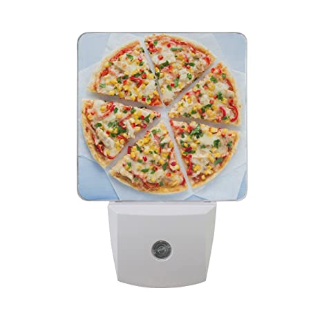 Naanle Set Of 2 Colorful Italian Pizza Slice With Cheese Chicken