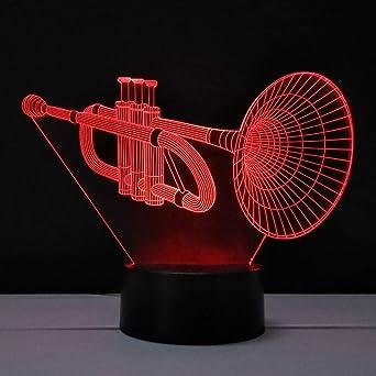 3d Nachtlicht Saxophon Tischlampe Plexiglasscheibe Led