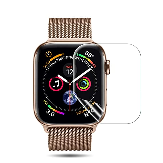 [6 Pack] Lk Compatible With Apple Watch Screen Protector 40mm / 38mm (Series 4/3/2/1), Liquid Skin [Hd Clear] Anti Bubble Flim With Lifetime Replacement Warranty by Lk