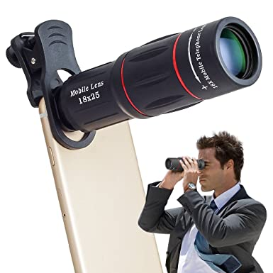 Apexel Universal 18x Clip On Telephoto Telescope Camera Mobile Phone Zoom Lens For Iphone X 8 7 Plus 6s Samsung Galaxy S8 S7 Huawei And Most Android
