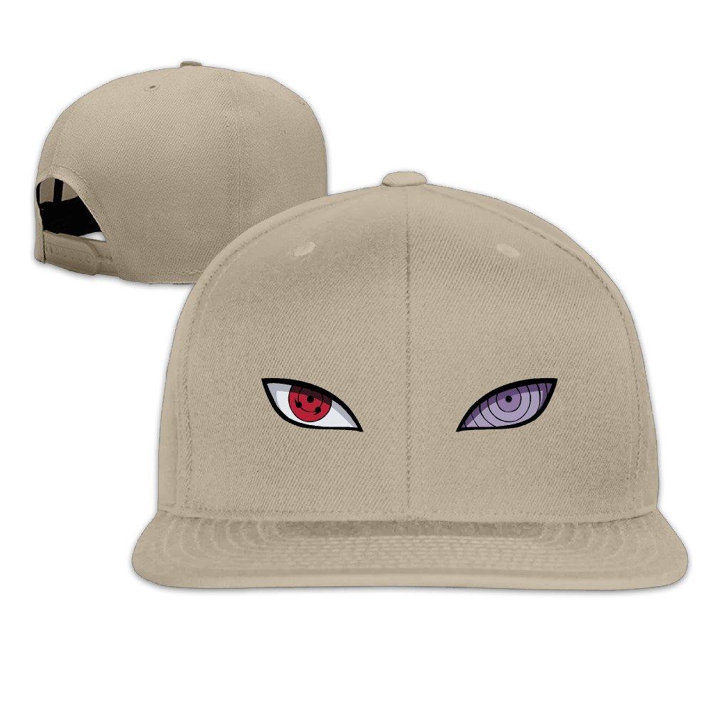 VOLTE Sharingan Rinnegan Eyes Japanese Comic Naruto Shippuden Flat Bill Snapback Adjustable Golf Caps Black