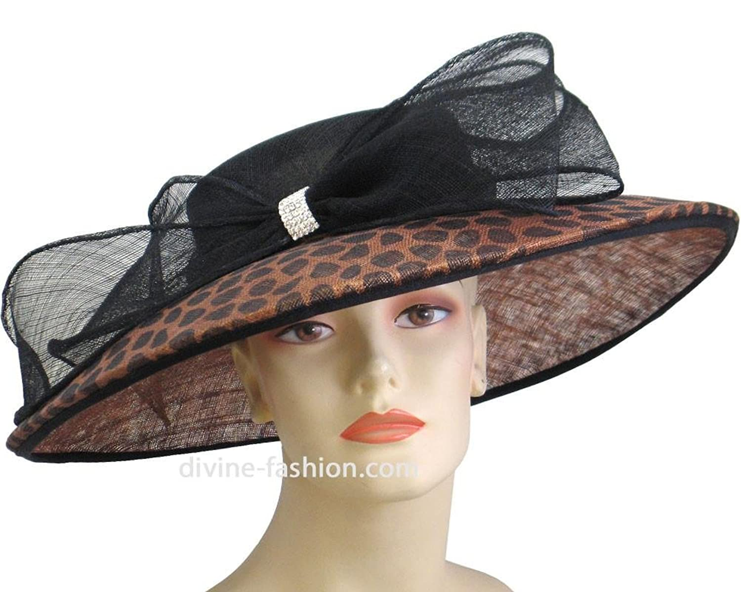 87537bfd38c Ms. Divine Collection Womens Wide Brim Derby