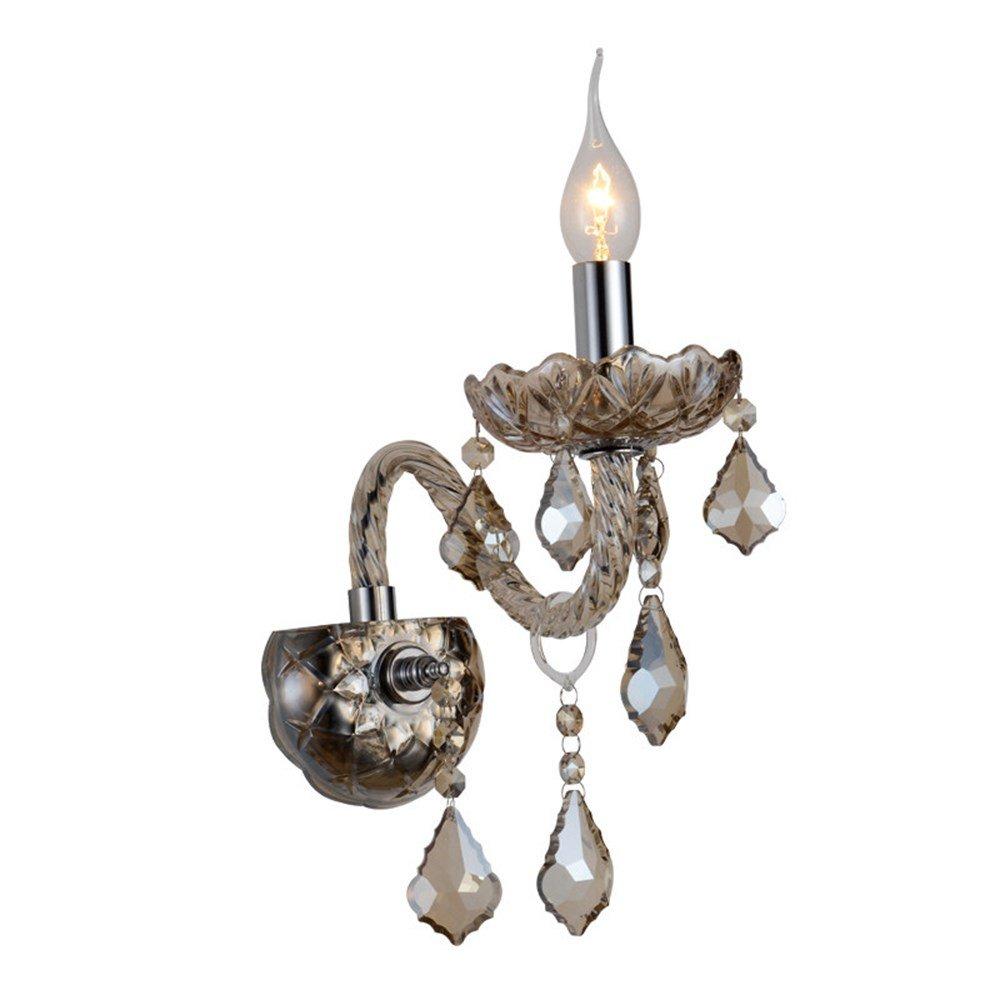 U-Enjoy Kronleuchter Europäische Neben Living Light Lamp Gold-Kerze-Lampen Wandleuchten Raum Romantische Schlafzimmer Kristall Kostenloser Versand [2 Leuchten]