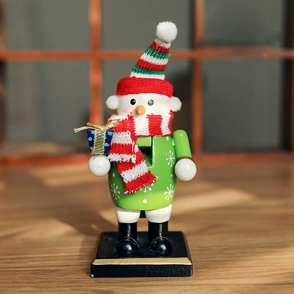 Gift Snowman//Penguin//Santa Claus//Cook Cook# wsloftyGYd Snowman Penguin Santa Claus Wooden Toy Nutcracker Xmas Home Decor Nutcracker Xmas Decor
