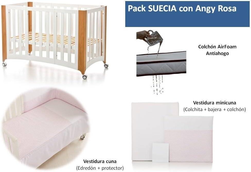 Bolin Bolon Pack Cuna-minicuna colecho SUECIA completa ANGY ROSA: Amazon.es: Bebé