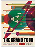 NASA JPL Visions of The Future Space Tourism Travel Poster The Grand Tour Handmade Gallery Print (18x24)