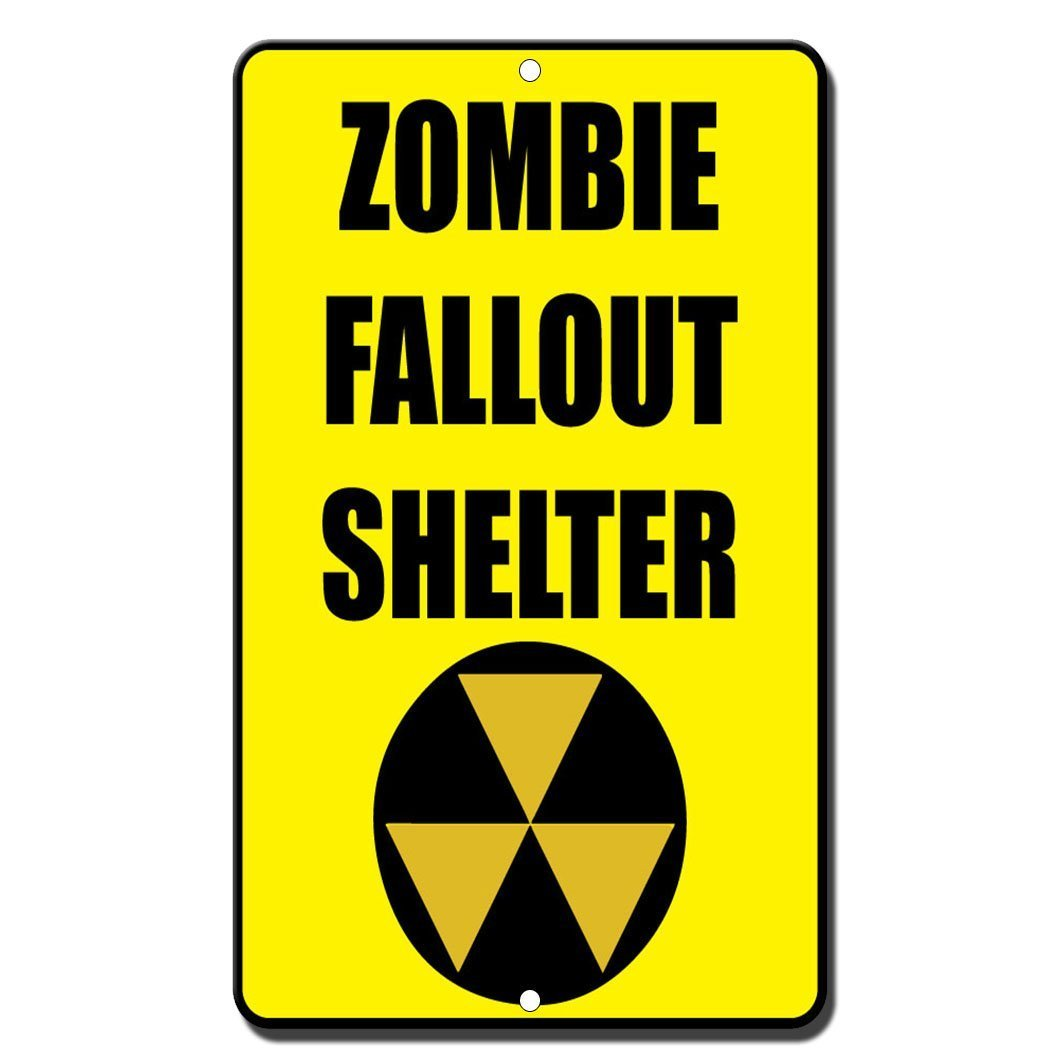 OneMtoss Zombie Fallout Shelter Style 2 - Cartel divertido ...
