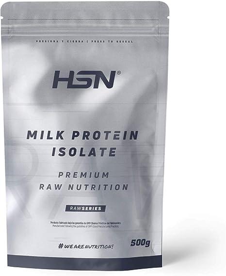 Aislado de Proteína de Leche de HSN | Milk Protein Isolate | Grass-Fed | 80% Caseína 20% Suero | Vegetariano, Sin Gluten, Sin Soja, Sin Sabor, 500 gr