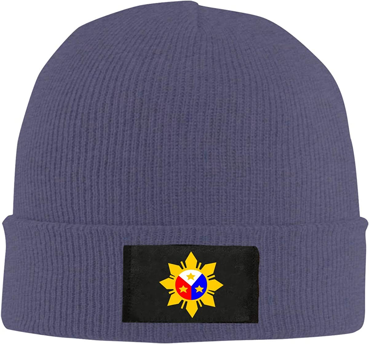 Filipino Philippine Flag Women and Men Knitted Hat Stretchy Snowboarding Hat
