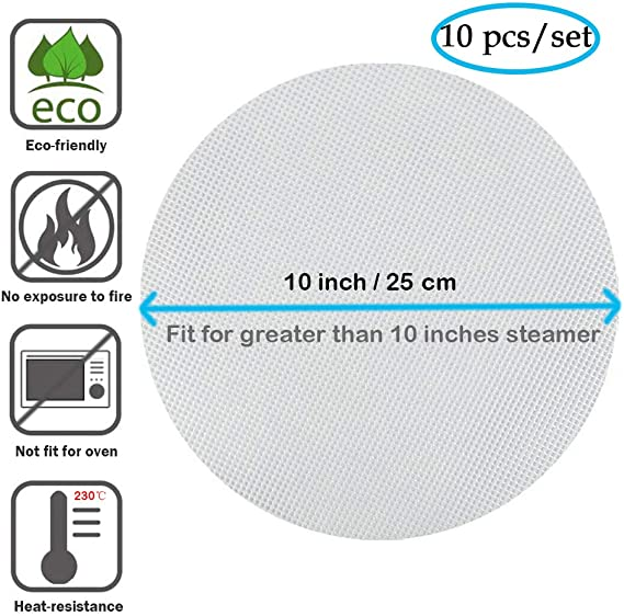 Details about  /10pcs Silicone Steamer Mesh Mat Multifunctional Non-stick Pastry Round Liners
