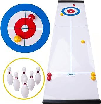 Rolimate Curling Juego Shuffleboard Juegos Familiares para niños y ...
