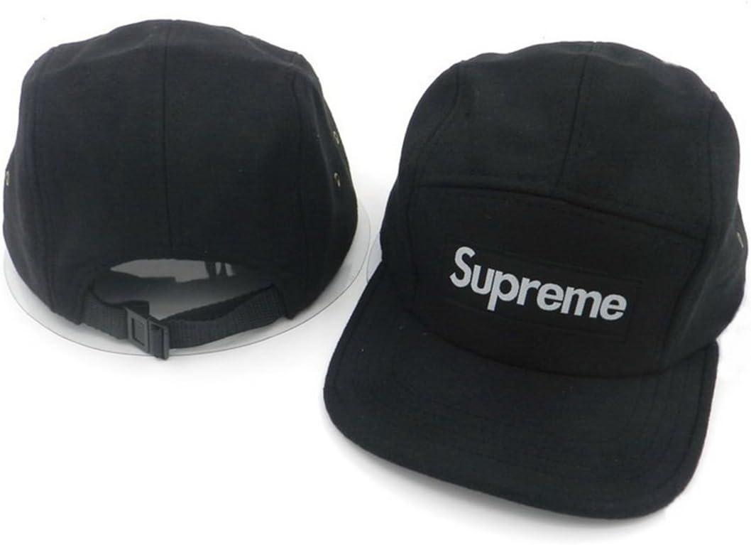 Gorras snapback/tapas de la marca Supreme (negra con logo blanco ...