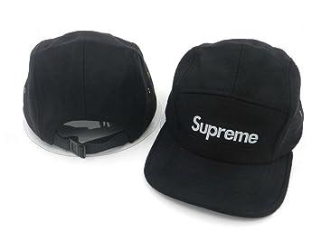 Gorras snapback/tapas de la marca Supreme (negra con logo blanco, estilo-6).: Amazon.es: Deportes y aire libre
