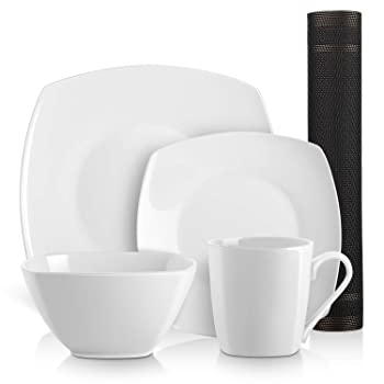 DOWAN 10-piece Square Kitchen Dinnerware Set