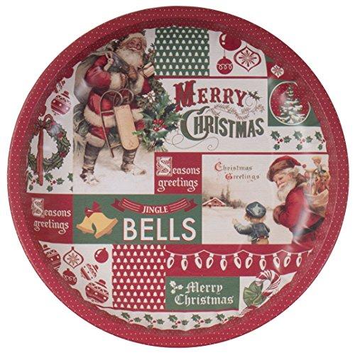 Weihnachtsteller 26 cm Plätzchenteller Adventsdeko Nikolaus Advent Teller , Motiv:Merry Christmas