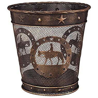 Gift Corral Small Waste Basket - Western Pleasure - Black/bronze - Western Pleasure