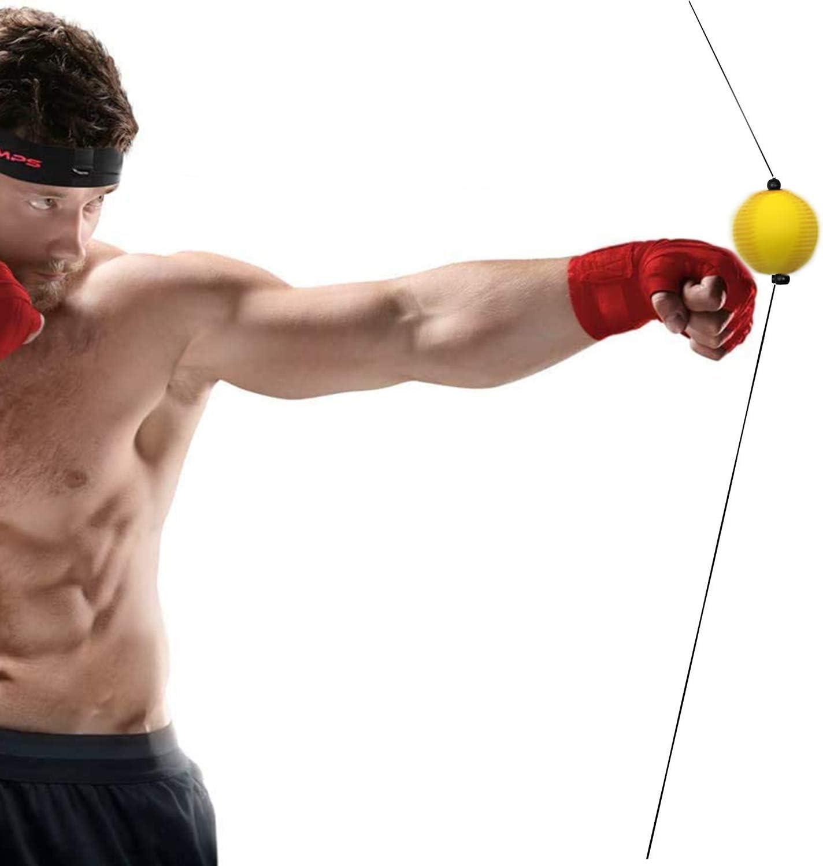 Ventosa ajustable de boxeo reflexi/ón velocidad bola mano reacci/ón ojo entrenamiento bola punzonado equipo fitness accesorios para entrenamiento velocidad respuesta para adultos ni/ños