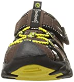 pediped Boys' Canyon Flat Chocolate Yellow 28 E