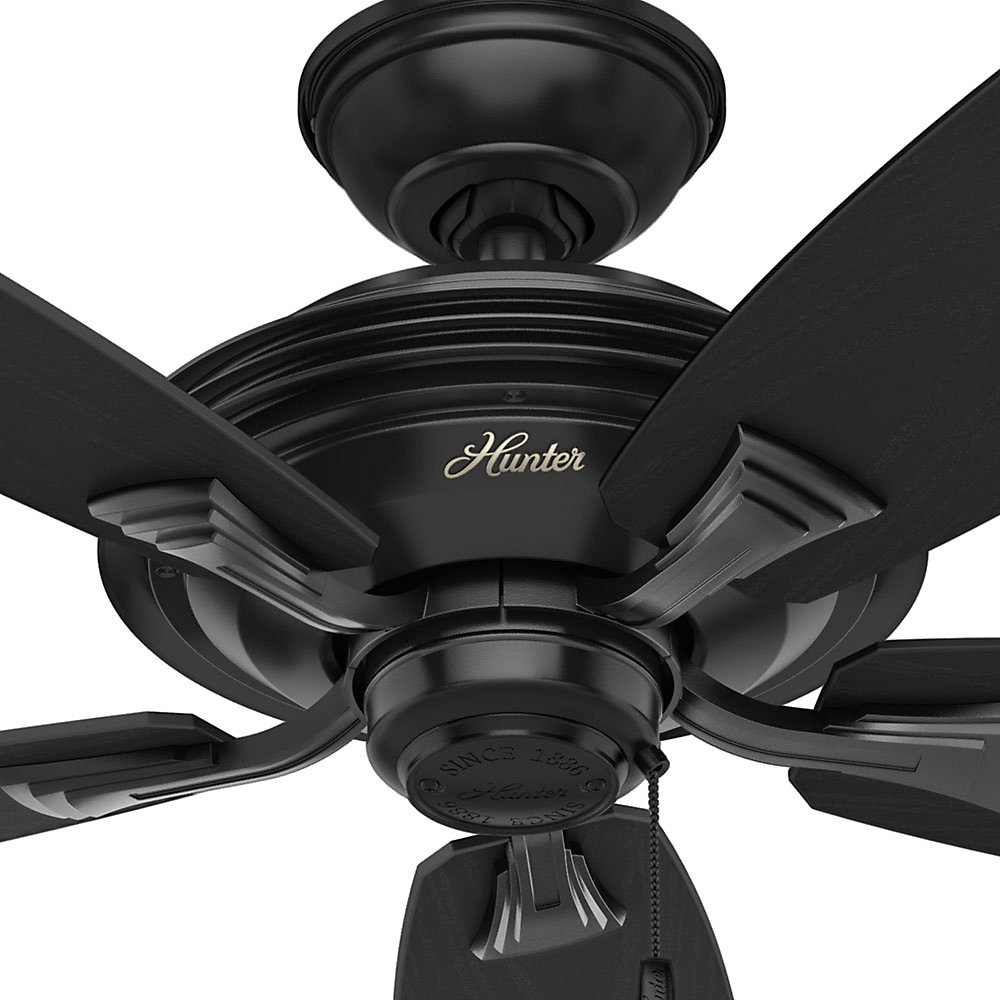 Hunter Fan Company 53348 Hunter 52 Rainsford Matte Black Ceiling Fan Large