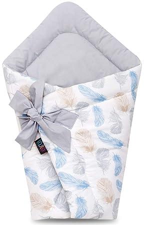 75 x 75 cm SweetDreams Baby Einschlagdecke Wickeldecke f/ür Neugeborene und Kleinkinder Beige//Dots Schlafsack Baumwolle 0-12 Monate 1024 super weich