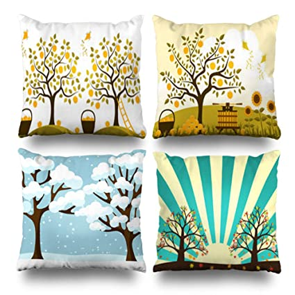 Swell Amazon Com Pakaku Set Of 4 Decorativepillows Case Throw Ocoug Best Dining Table And Chair Ideas Images Ocougorg