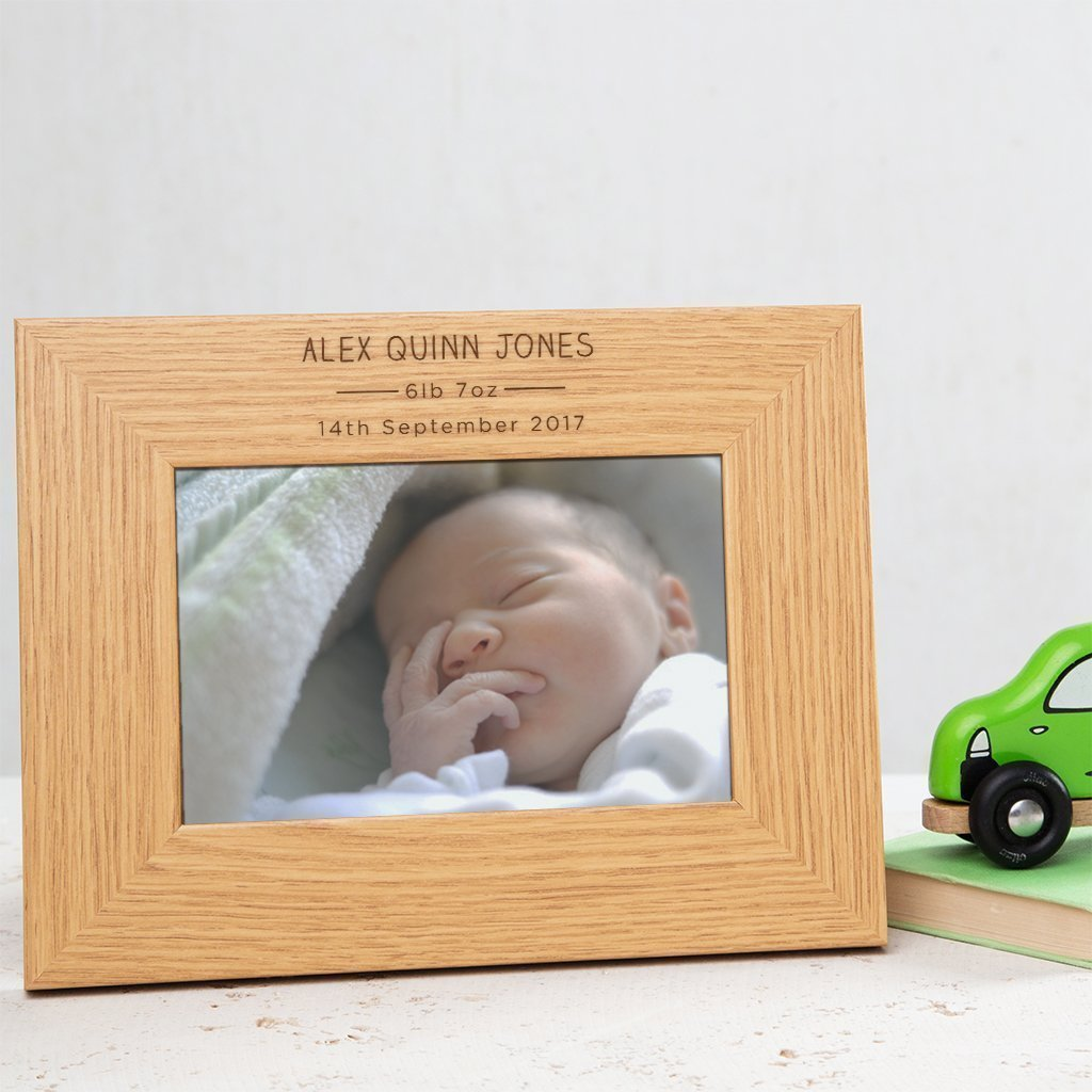 Personalised Baby Photo Frame/Picture Frame - 6x4/7x5/8x6 Frames Available