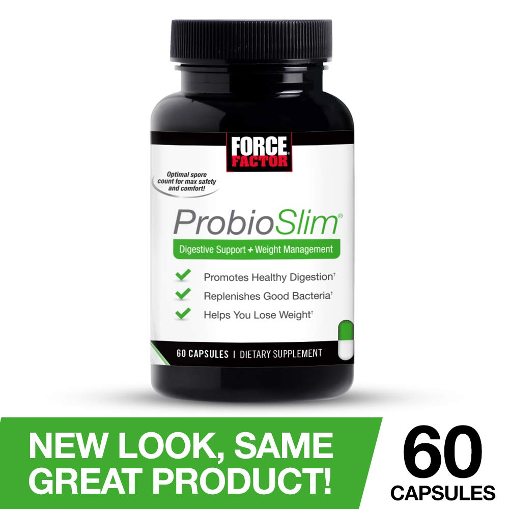Best Probiotic 2020.Force Factor Probioslim Probiotics Weight Loss Supplement Burn Fat Lose Weight Reduce Gas Bloating Constipation Digestive Health 60 Count