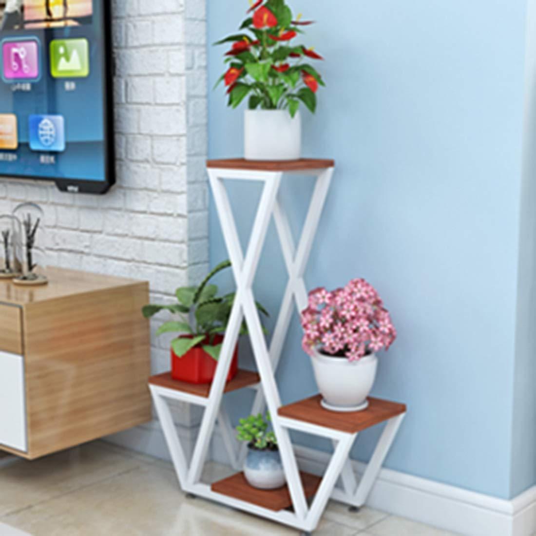 Mode nach Hause ZHILIAN® Einfaches Holz Pergolen Und Kreativer Nordic Familie Wohnzimmer Stock Balkon Blaume Multifunktionslagerregal (Farbe   B) B