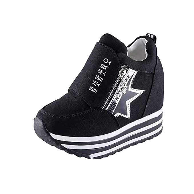 d066400d212 DENER❤ Women Ladies Platform Wedge Sneakers