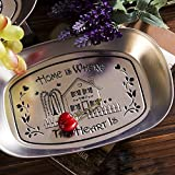 Eaglood Style Retro Iron Plate Tableware Fruit Plate Candy Snack Plate Snack Fruit Basin Bone Plate E Style