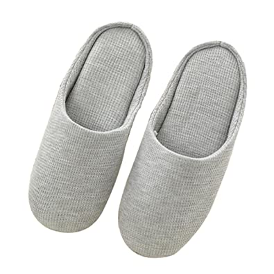 Beautiful Amazon.com | House Slippers For Women, Indoor Breathable Cotton Slipper,  Comfort Anti Slip Closed Toe Knitted Shoes | Slippers