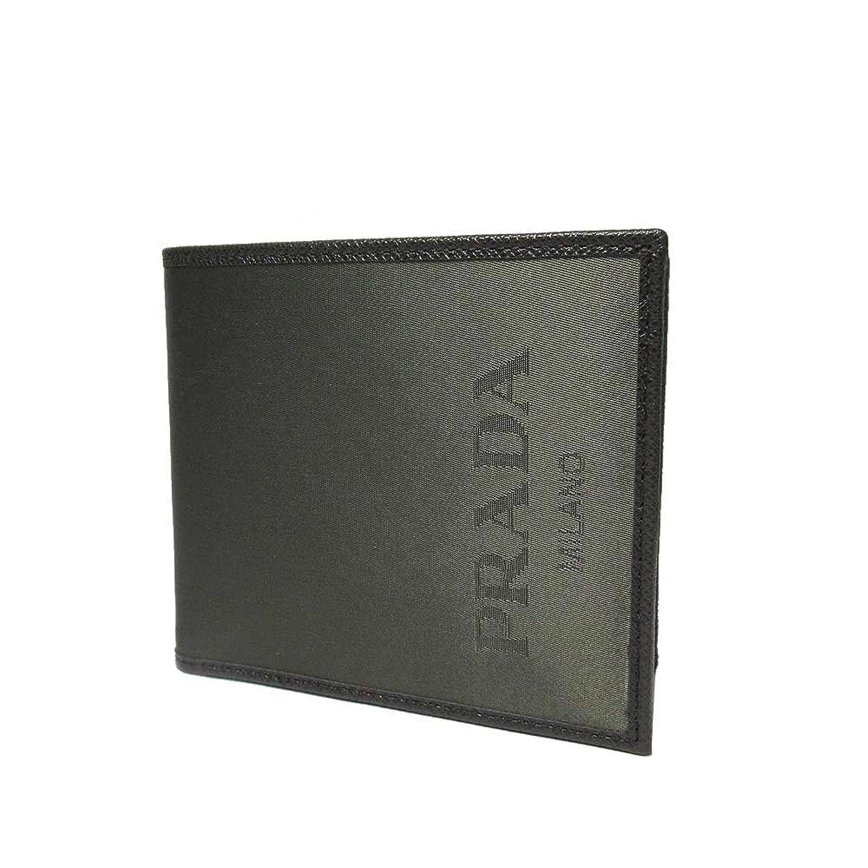 プラダ PRADA 財布 2MO738 ナイロン ロゴ 二つ折り財布(小銭入れ有り) NYLON LOGO JACQ/CENERE 【アウトレット】 [並行輸入品] B07DGW8BJZ
